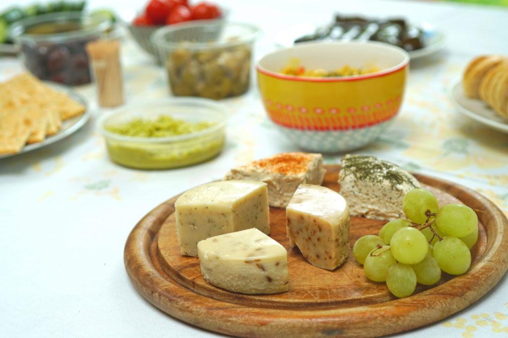 Vegan borrel kaasplankje workshop